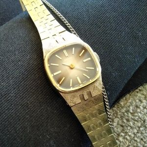 Vintage Seiko Watch with Brown Face